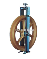 fiber optic cable stringing block pulleys