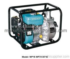 Forced air cooled portable gasoline water pumps
