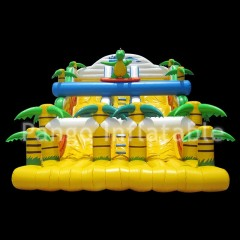 Yellow Large Forest Inflatable Slide