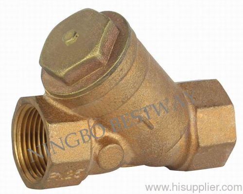 Bronze y strainer check valve from china manufacturer