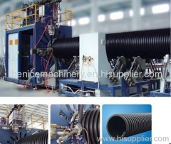 PE double wall corrugated pipe extrusion equipment