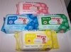 Spunlace nonwoven baby wipes