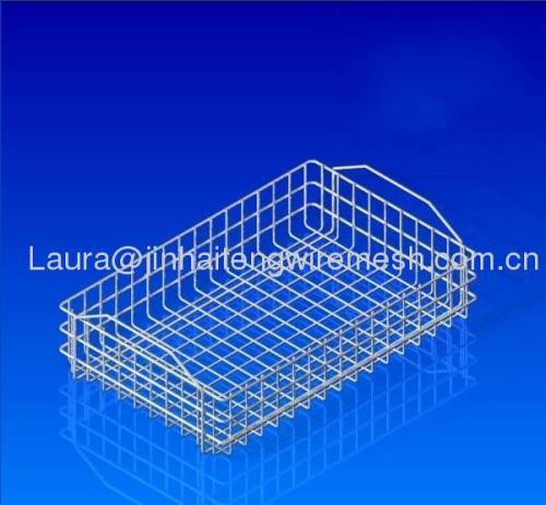 Mesh Wire Baskets-Handles