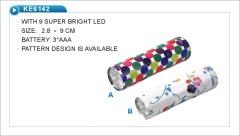 9 LED pattern designed flashlight