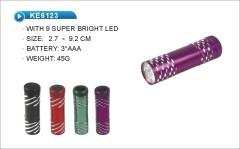 9 LED pocket portable flashlight