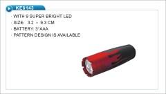9 LED flame Flashlight