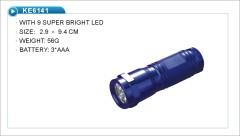 fashionable 9 LED flashlight