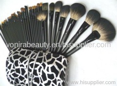 40pcs sable hair makeup brush set