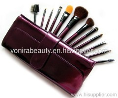 12pcs Metallic Plum wholesale makeup brush set