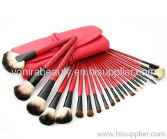 22 Piece Red Make up Mineral Brush
