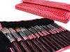 15pc Pro Red Makeup Make Up Eye Shadow Brush Set Kit + Case