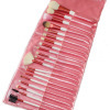 20 pcs Goat Make Up Cosmetic Brush Set Kit Pink Case