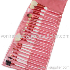 20 pcs Goat Make Up Cosmetic Brush Set Kit Pink Case