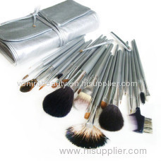 Silver memory-Top Grade Makeup Brush Set(24Pcs)