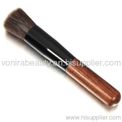 Synthetic Flat Top Foundation Brush Wooden Brush