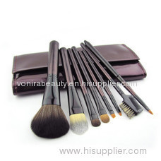 Mini Travel Size- Wool Makeup Brush Set With Free Case(8 Pcs)
