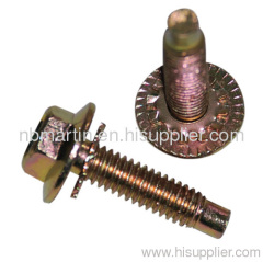 flanged carbon steel bolt with washer