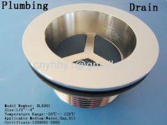 Brass drain is used in floor basin sink and bathtub