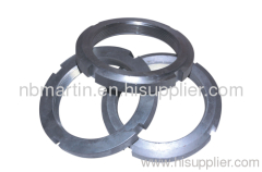 Slotted round carbon steel nuts