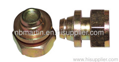 machning parts,steel,surface carburized,color zinc plated