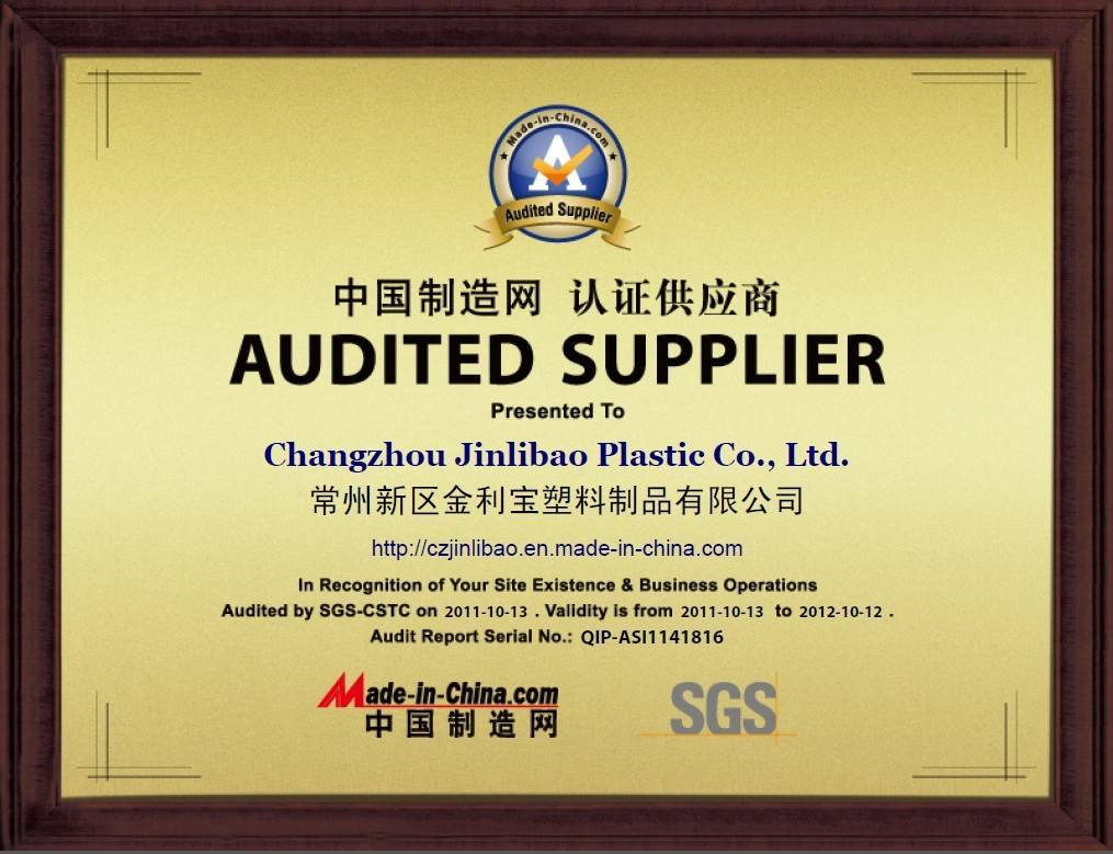 Audited Supplier certificated by SGS