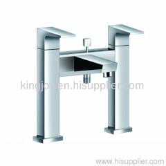 Two-handle deck bath/shower mixer bath foucet