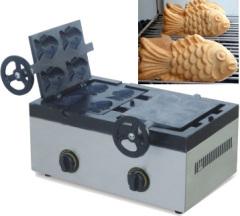 Gas fish shape waffle machine