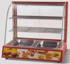 Curved Glass warming display case