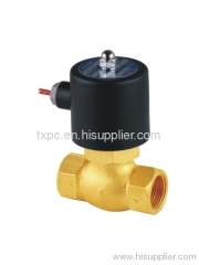 High pressure steam solenoid valve