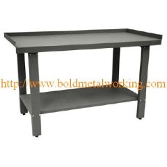 sheet metal industrial steel workbench
