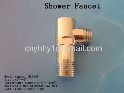 Brass shower faucet
