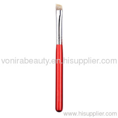 Angled eye brow brush