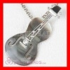 Fashion Sterling Silver violin Pendant with Stone wholesale