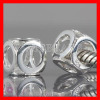 Sterling silver European Hollow Cube bead Charms