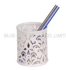 stamping flower pen holder