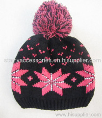 acrylic knitted winter hat