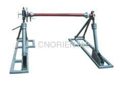 conductor tension stringing reel elevator stands with disc brake