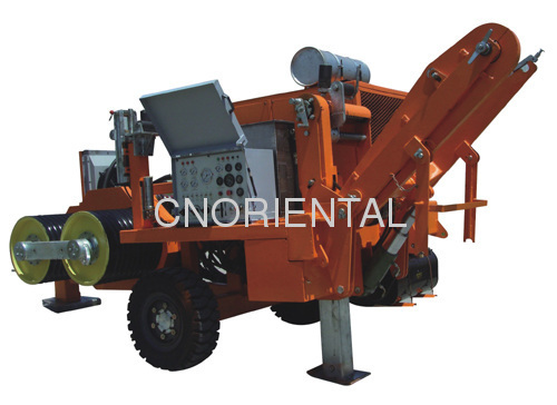 conductor tension stringing equipments for installation of overhead electric distribution lines