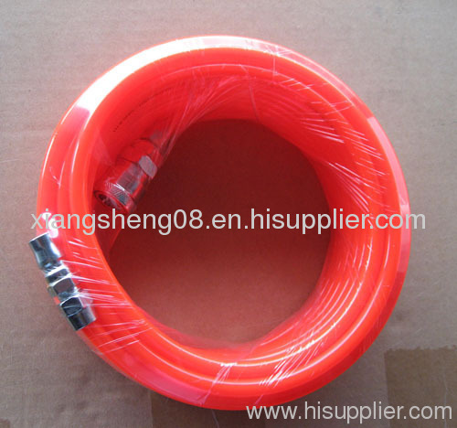 pu air hose with adapter and coupler