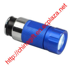 Car Cigarette Lighter Socket Rechargeable 0.5W Mini LED Flashlight