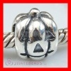 european Charm Sterling Silver Halloween Pumpkin
