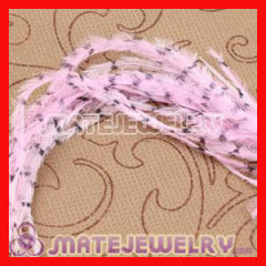 Pink Striped Ostrich Feathers