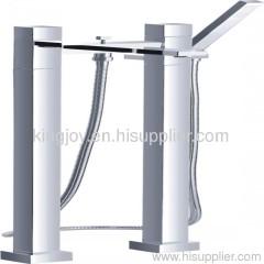 Two-handle bath/shower mixer floor mounted