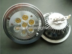 High power led light 7X1W AR111 base led light