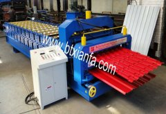 Double glazed tile roll forming machine