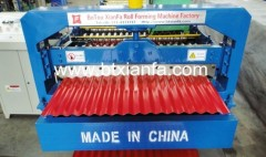 Corrugated profile roll forming machine