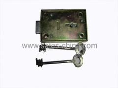 High security mechanical safe lock with double-bit keys