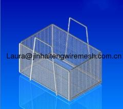 wire mesh metal baskets-handles