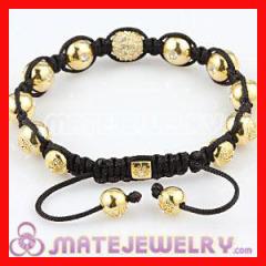 Shamballa Gold Beads Bracelet