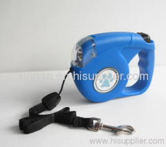 Dog leash flashlights
